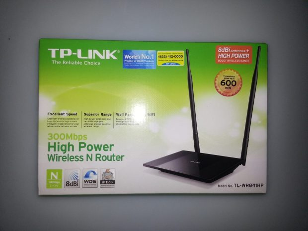 Better WiFi signal through my new router TL-WR841HP   50 sense